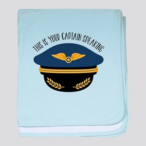 Your Captain baby blanket