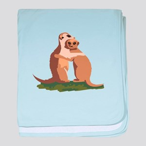 Meerkat Couple baby blanket