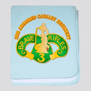 SSI - 3rd Armored Cavalry Rgt w Text baby blanket