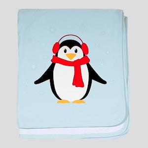 Winter Penguin baby blanket