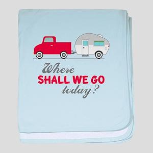 Where Shall We Go baby blanket