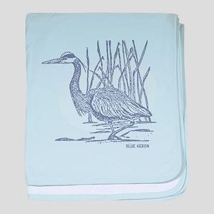 Blue Heron baby blanket