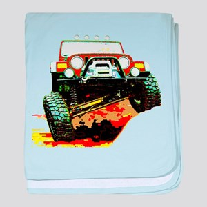 Jeep rock crawling baby blanket