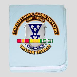 2nd Bn - 503rd Infantry (Airborne) - baby blanket