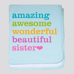 Amazing Awesome Sister baby blanket