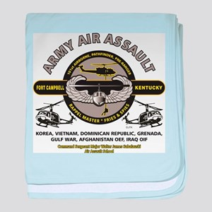 ARMY AIR ASSAULT baby blanket