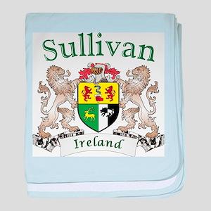 Sullivan Irish Coat of Arms baby blanket