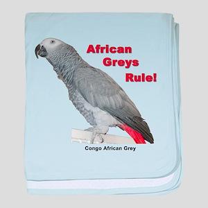 African Greys Rule baby blanket