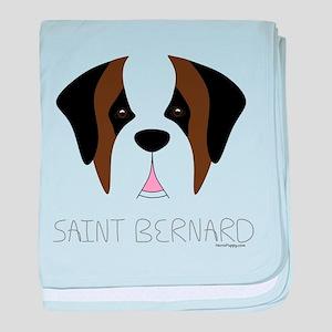 Saint Bernard Cartoon Face baby blanket