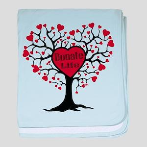 Donate Life Tree baby blanket