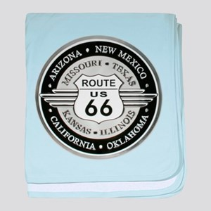 Route 66 states baby blanket
