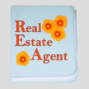 Real Estate Agent baby blanket