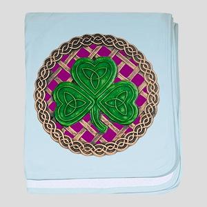 Shamrock And Celtic Knots baby blanket