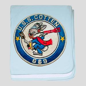 USS COTTEN baby blanket