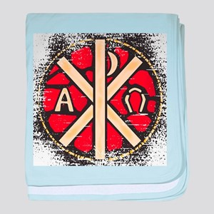 Alpha Omega Stained Glass baby blanket
