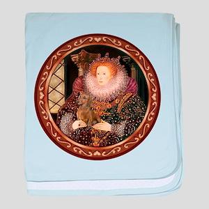 Queen / Dachshund #1 baby blanket