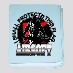 Protect Flag Airsoft baby blanket