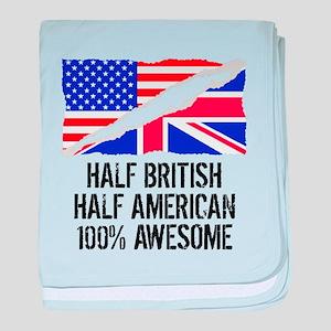 Half British Half American Awesome baby blanket