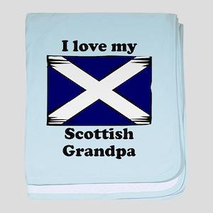 I Love My Scottish Grandpa baby blanket