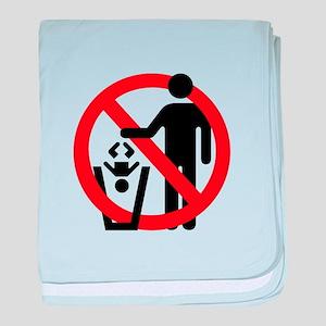 No Trashing Babies baby blanket