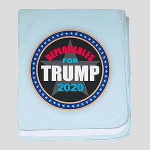 Deplorables for Trump 2020 baby blanket