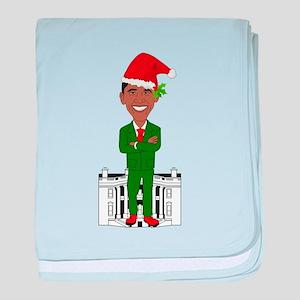barack obama santa claus baby blanket