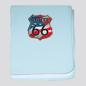 Route 66 baby blanket