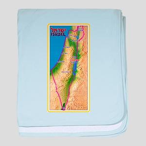 Israel Map Palestine Landscape Border baby blanket