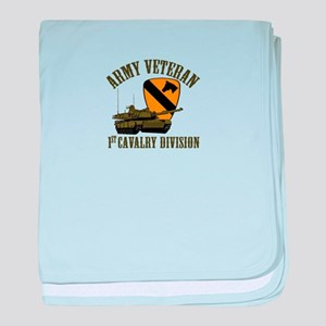 1ST Cavalry Division Veteran baby blanket