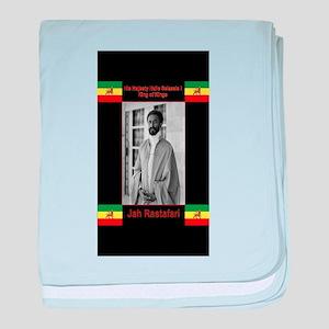 Haile-Selassie-Jah_Rastafari baby blanket