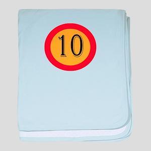 Number 10 baby blanket