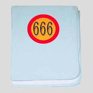 Number 666 baby blanket