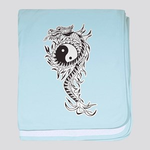 Yin Yang Dragon baby blanket