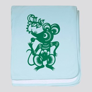 Rat Chinese Asian Astrology Zodiac Si baby blanket