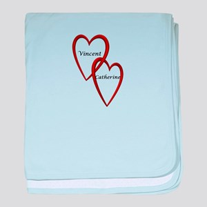 Vincent and Catherine Two Hearts baby blanket