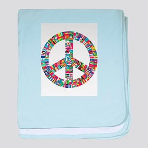 Peace to All Nations baby blanket