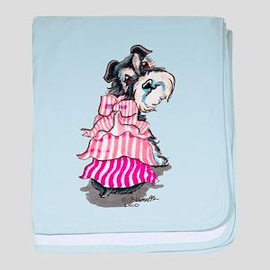 Girly Schnauzer baby blanket