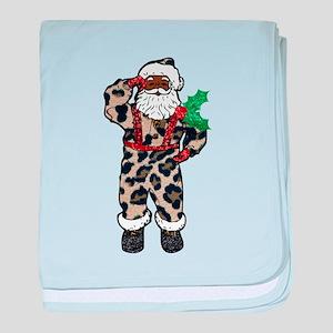 african leopard santa claus baby blanket