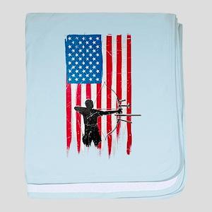 USA Flag Team Archery Infant Blanket