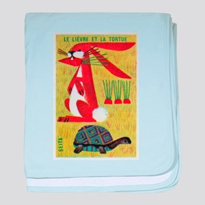 Vintage The Tortoise and the Hare Matchbox Label b