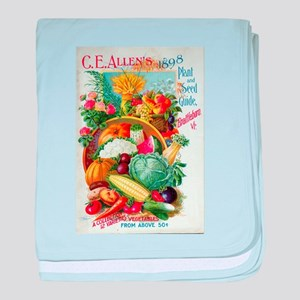 1898 Plant and Seed Guide baby blanket