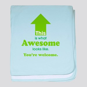 Awesome_lime baby blanket