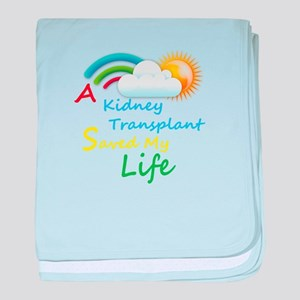 Kidney Transplant Rainbow Cloud baby blanket