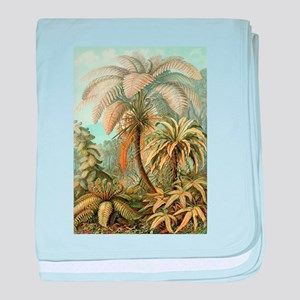 Vintage Tropical Palm baby blanket