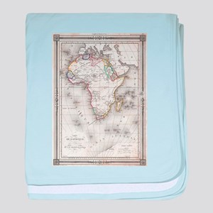 Vintage Map of Africa (1852) baby blanket