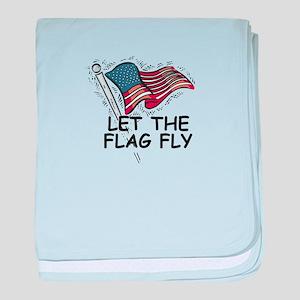 Patriotic American Flag baby blanket