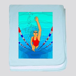 Woman swimming baby blanket