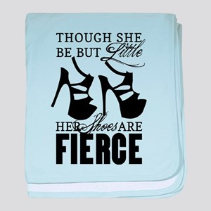 Though She Be But Little/Fierce Shoes baby blanket