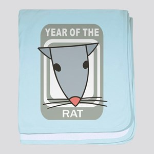 Year Of The Rat baby blanket