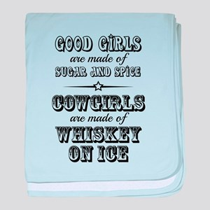 Whiskey on Ice baby blanket